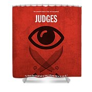 Judges Books Of The Bible Series Old Testament Minimal Poster Art Number 7 Shower Curtain