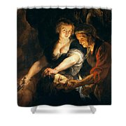 Judith With The Head Of Holofernes Shower Curtain
