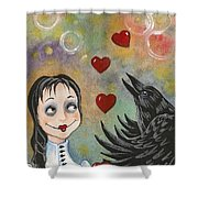 Juggler Of The Hearts Shower Curtain