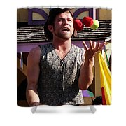 Juggler Shower Curtain