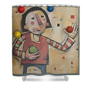 Juggler With Balls  Shower Curtain