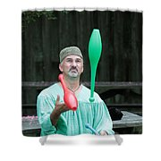 Juggling Shower Curtain