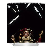 Juggling Fun Shower Curtain by Bob Christopher