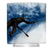 Juggling Statue Shower Curtain