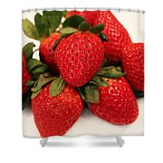 Juicy Strawberries Shower Curtain
