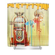 Juke Box Shower Curtain