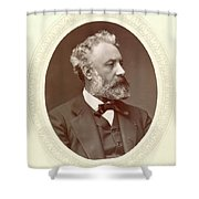 Jules Verne (1828-1905) Shower Curtain