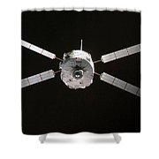 Jules Verne Automated Transfer Vehicle Shower Curtain by Anonymous