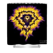 Julia Fire Shower Curtain