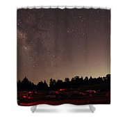 Julian Night Sky Milky Way Shower Curtain