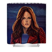 Julianne Moore Shower Curtain