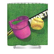 Julia's Game Shower Curtain by Troy Levesque