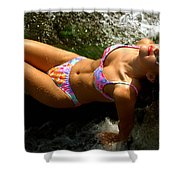 Julie Lay Waterfall Shower Curtain