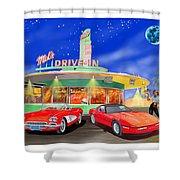 Julies Corvettes Shower Curtain