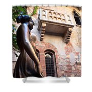 Juliet's Balcony In Verona Italy Shower Curtain