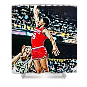 Julius Erving Shower Curtain