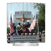 July 4th Float The Potter's House Prescott Arizona 2002 Shower Curtain by David Lee Guss