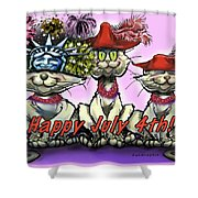 July 4th Shower Curtain by Kevin Middleton