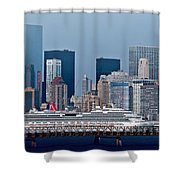 July 7 2014 - Carnival Splendor At New York City - Image 1674-01 Shower Curtain