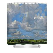 July In The Valley Shower Curtain
