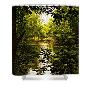 July Indian Lake Looking North Shower Curtain