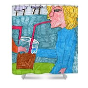 Jumbo Drink Contest Shower Curtain