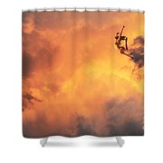 'jump Into The Fire' Shower Curtain