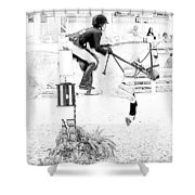 Jumper Lines Shower Curtain