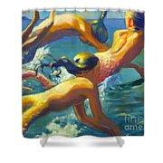 Jumping Mermaids Shower Curtain