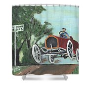 Jumping The Tracks Shower Curtain