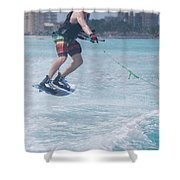 Jumping Wakeboarder Shower Curtain