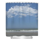Jumping Waves Shower Curtain