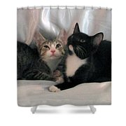 June And Jetta Shower Curtain
