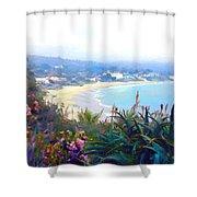 June Gloom Morning At Laguna Beach Coast Shower Curtain
