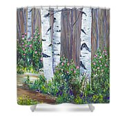 June Roses Shower Curtain