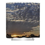 June Sunrise From The Series The Imprint Of Man In Nature Shower Curtain