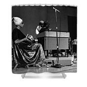 June Tyson 1968 Shower Curtain by Lee  Santa