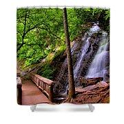 Juney Whank Falls Shower Curtain