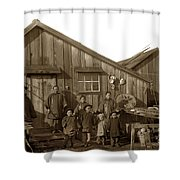 Jung San Choy And Chinese Family Pescadero Village Pebble Beach California Circa 1895 Shower Curtain