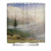 Jungfrau, 1913 Shower Curtain by Albert Goodwin