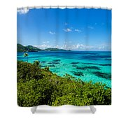 Jungle And Turquoise Water Shower Curtain