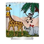Jungle Aria Shower Curtain