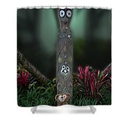 Jungle Bear 2 Shower Curtain