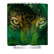 Jungle Eyes - Jaguar Shower Curtain
