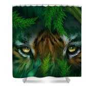 Jungle Eyes - Tiger Shower Curtain