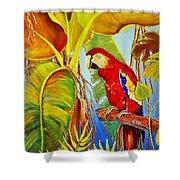 Jungle Flame Shower Curtain