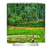 Jungle Homestead - Paint  Shower Curtain