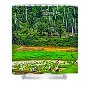 Jungle Homestead Paint Version Shower Curtain
