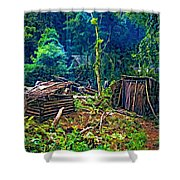 Jungle Homestead Shower Curtain