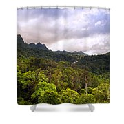 Jungle Landscape Shower Curtain